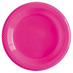 Набор тарелок Делюкс Фуксия 15см 10шт