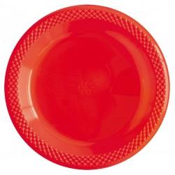 Набор тарелок Делюкс Красные 15см 10шт