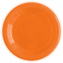 Набор тарелок Делюкс Оранжевые 15см 10шт