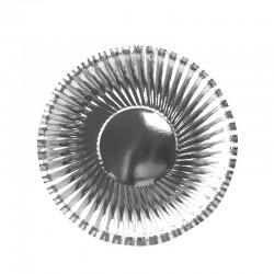 Набор тарелок фактурные Серебряные 18см 6шт