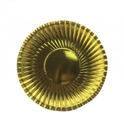 Набор тарелок фактурные Золотые 18см 6шт