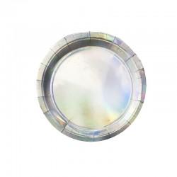Набор тарелок лазерные Космос 18см 6шт