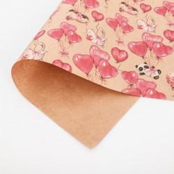 Бумага упаковочная крафтовая С любовью 50×70см