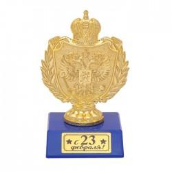 """Фигура с символикой РФ """"С 23 февраля!"""", 11,4 х 6,3 х 7,5 см син. 2457505"""