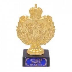 Фигура с символикой РФ Лучший папа на свете черная 12х5х7см