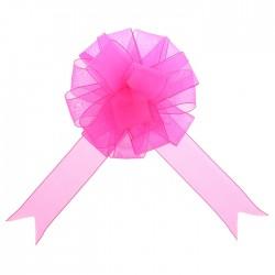 Бант-шар органза ярко-розовый 20см
