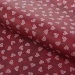 Бумага упаковочная Сердечки 50х70см