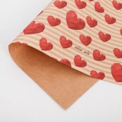 Бумага упаковочная крафтовая Обожаю тебя 50×70см