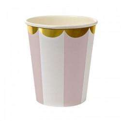 Набор стаканов Полоски Нежно-розовые 6шт