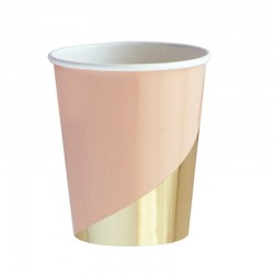 Набор стаканов Пудровые с золотом 6шт