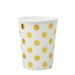 Набор стаканов Горох Золотой на белом 6шт