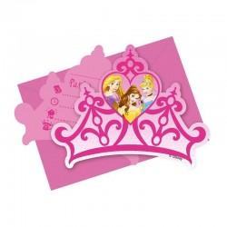 """P Приглашения """"Принцессы"""" / Princess Dreaming / набор 6 шт. / (Китай)"""