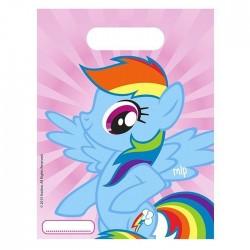 """P Пакеты подарочные """"Моя маленькая Пони"""" / Rainbow Pony / 17*23 см / набор 6 шт. / (Китай)"""