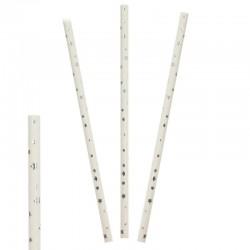 Трубочки бумажные Звезды Серебряные 20см 25 шт