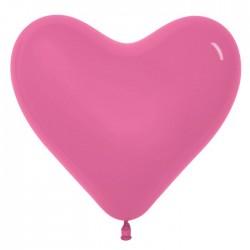 """Шар латексный """"Сердце"""" 16"""", набор 100 шт., цвет тёмно-розовый 1226719"""