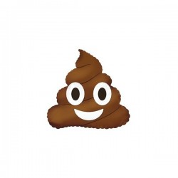 Шар (10''/25 см) Мини-фигура, Смайл Эмоции (Шоколадное мороженое) , Коричневый, 1 шт.