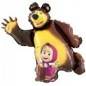 Шар фигура Маша и Медведь 35см