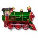 Поезд зеленый 35см