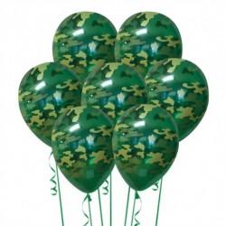 Набор из 7 шаров Камуфляж Матовый 30 см