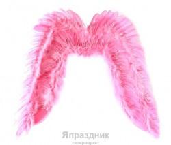 Крылья ангела 70*80 розовые с блестками