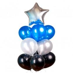 Фонтан из шаров Синее сияние
