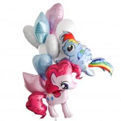 Фонтан из шаров Веселые пони