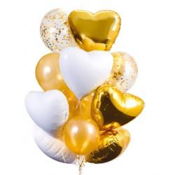Фонтан из шаров Золотое сияние