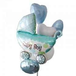 """Фонтан из шаров """"Коляска мальчика"""""""