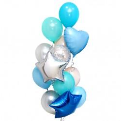 """Фонтан из шаров """"Голубая лагуна"""""""