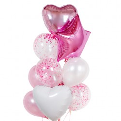 Фонтан из шаров Розовый пунш