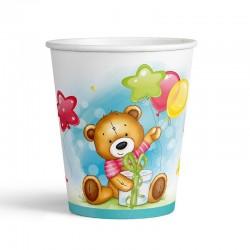 Набор стаканов С Днем рождения Милый Мишка 6шт