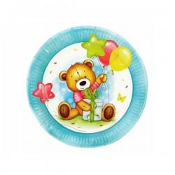 Набор тарелок С Днем рождения Милый Мишка 18см 6шт