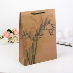 "Пакет крафт ""Желтый цветок"", 31,5 х 42 х 10 см 149258"