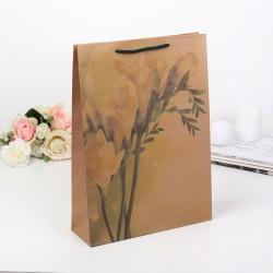 "Пакет крафт ""Желтый цветок"", 24 х 33 х 8 см 149249"