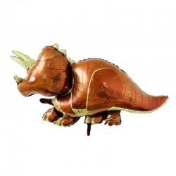 Шар фольгированный фигура Динозавр коричневый 66см