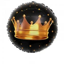 Шар фольгированный круг Корона 48см