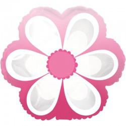 Шар (9''/23 см) Мини-фигура, Маргаритка, Розовый, 1 шт.