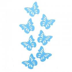 """Декоративные наклейки """"Бабочки"""" с перфорацией синие 6 х 4 см 24 шт"""