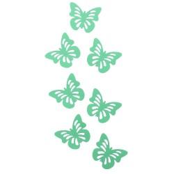 """Декоративные наклейки """"Бабочки"""" с перфорацией светло-зеленые 6 х 4 см 24 шт"""