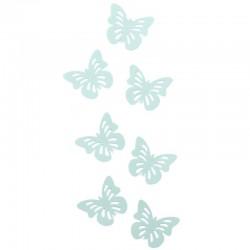 """Декоративные наклейки """"Бабочки"""" с перфорацией салатовые 6 х 4 см 24 шт"""
