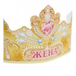 """Корона """"Жена"""" (сердце), 64х15,5 см 1509292"""