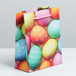 Пакет ламинированный Пасхальные угощения 12×15×6см
