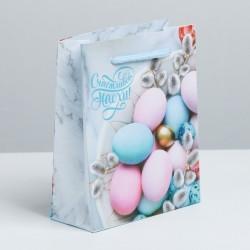 Пакет ламинированный Счастливой Пасхи! 12×15×6см