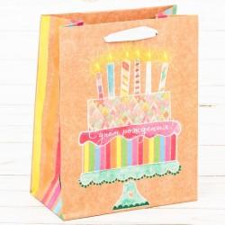 Пакет крафтовый Торт 15×12×6см