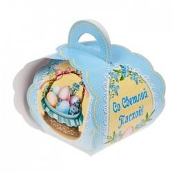 """Коробочка подарочная для яйца """"Со Светлой Пасхой. Корзинка с яйцами"""" 13,4*26,2 см 1746986"""