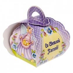 """Коробочка подарочная для яйца """"Со Светлой Пасхой. Ангел"""" 13,4*26,2 см 1746984"""
