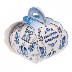 "Коробочка подарочная для яйца ""ХВ"" под гжель, 13,4 х 26,2 см 1193837"