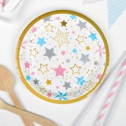 Набор тарелок Цветные звёзды 10шт