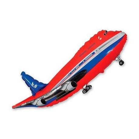 Шар Самолет красный 96см
