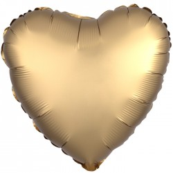 А 18 Сердце Золото Сатин Люкс в упаковке / Satin Luxe Gold Sateen Heart S15 / 1 шт (США)